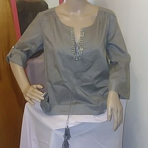 J. Crew Size S Blouse with embellishments